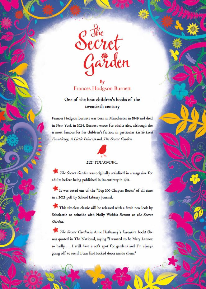 Review Return To The Secret Garden By Holly Webb Tales Of Yesterday